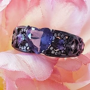 Jewelry - Amethyst and Sterling Silver Ring Size 8